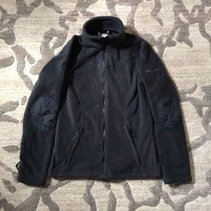 Columbia Black Fleece Zip Up Jacket
